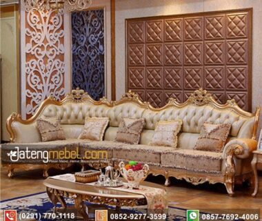 Set Sofa Sudut Luxury Trend Oscar Mewah