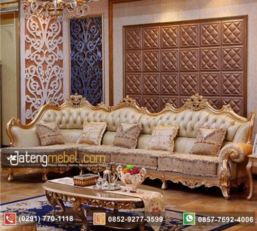 Set Sofa Sudut Luxury Trend Oscar Mewah