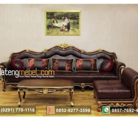 Sofa Sudut Mewah Model L Luxury