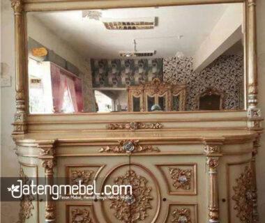 Bufet Cermin Nusantara Lengkung Duco Emas Meja Bufet Dan Cermin Rias