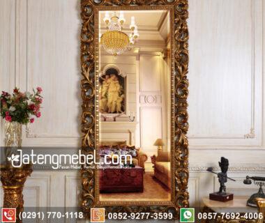 Frame Cermin Ukiran Decorasi Racoco Emas