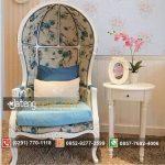 Toko Online Terpercaya Jual Kursi Sofa Balon Kubah Vintage Duco Putih