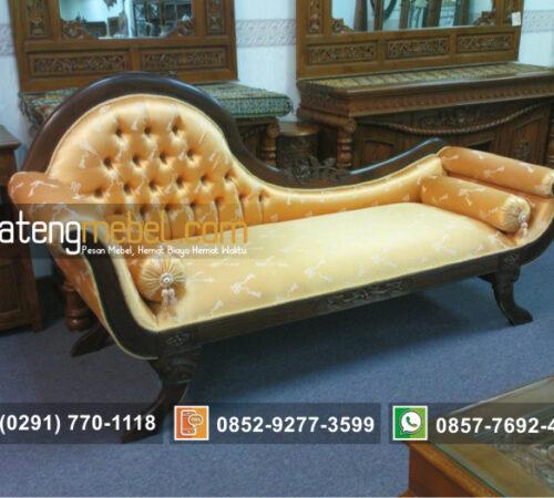 Kursi Sofa Tunggal Mawar Klasik Kayu Jati