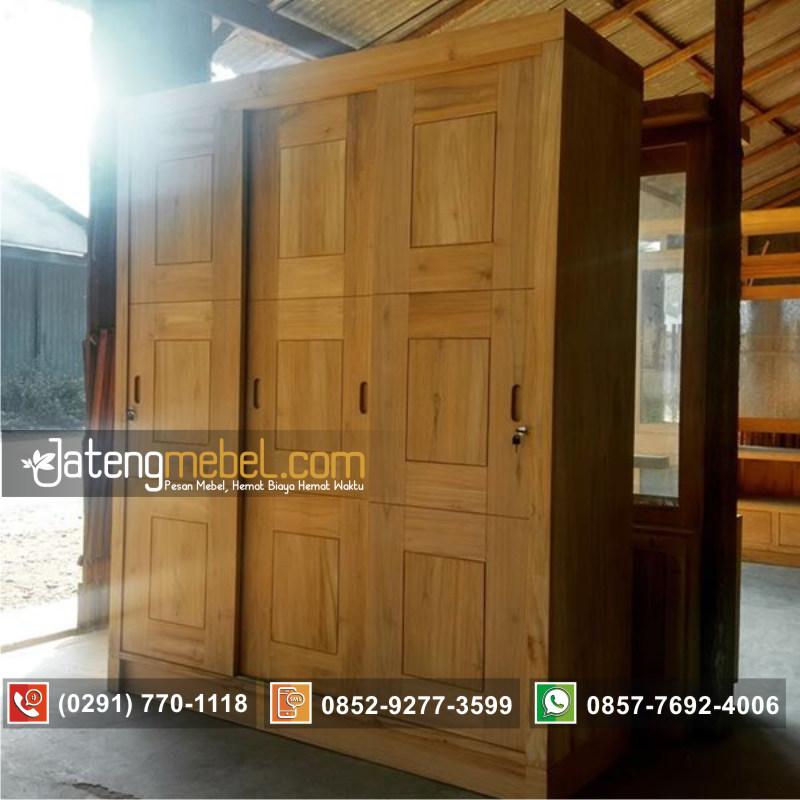lemari-minimalis-sliding-geser-pintu-3-kayu-jati