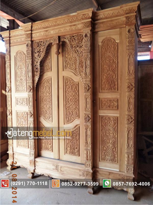 lemari-pakaian-gebyok-sliding-pintu-geser-kayu-jati