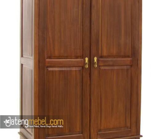 Lemari Pakaian Minimalis Jati 2 Pintu
