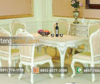 Meja Makan Duco Putih Elegan