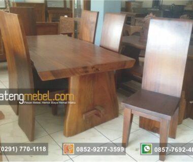 Meja Makan Trembesi Blok 6 Kursi (solid wood)