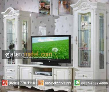 Toko Furniture Online Jual Set Bufet TV Duco Putih Mewah