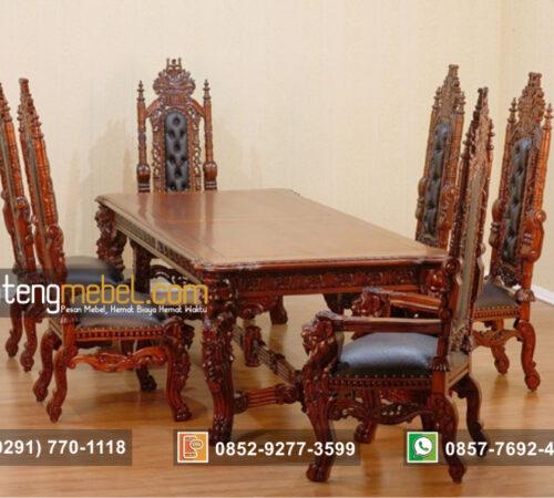 Set Kursi Meja Makan Mewah Raja