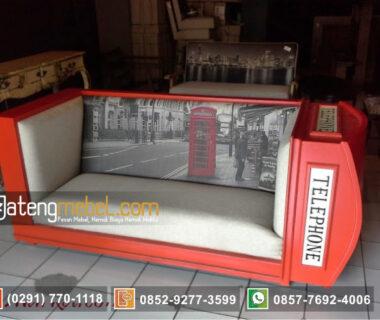 Sofa Retro Vintage Telephone Box Inggris