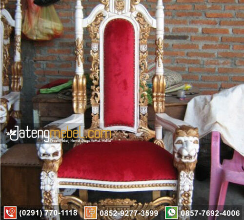 Kursi Sofa tunggal Model Singa Raja