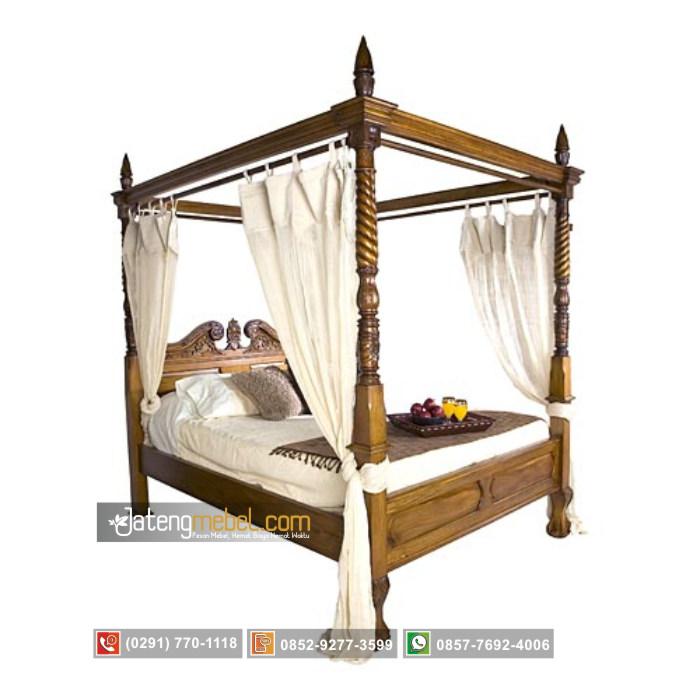 tempat-tidur-kanopi-ukiran-ulir-doppelbett-jati