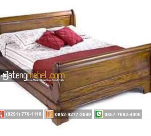 Tempat Tidur Kipas Bagong Model Blok Jati