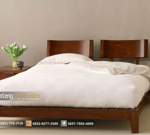 Tempat Tidur Minimalis 2 Sandaran Nyaman Blok