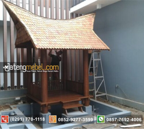 Gazebo Mini Model Rumah Adat