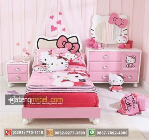 Set Tempat Tidur Perempuan Model Hello Kitty