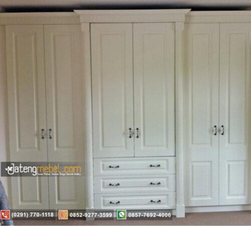 Lemari Pakaian Minimalis Duco Ivory