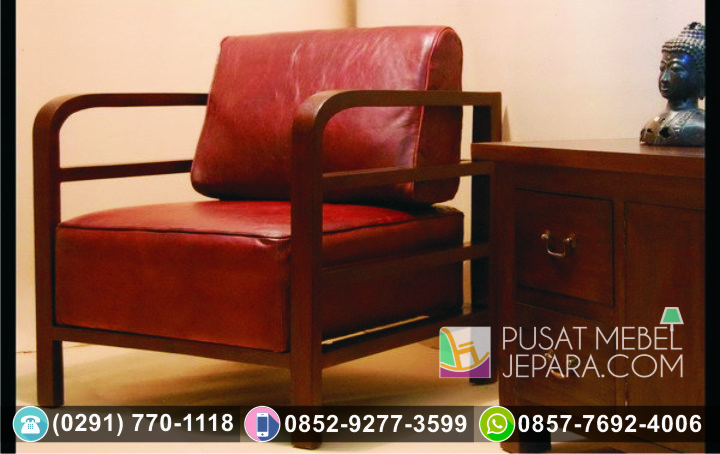 Kursi Sofa Santai Tunggal Minimalis Lengkung