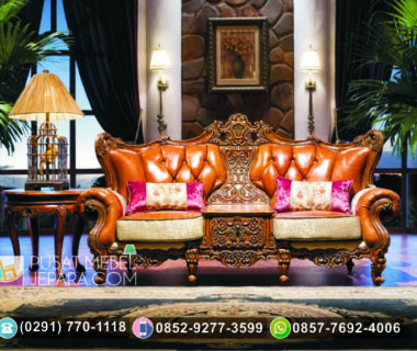 Kursi Sofa Tunggal Ukiran Cliffton