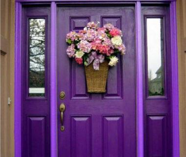 Pintu Rumah Minimalis Warna Ungu