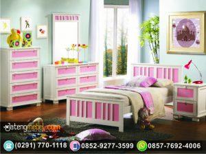 Tempat Tidur Anak Minimalis Tingkat Duco Pink
