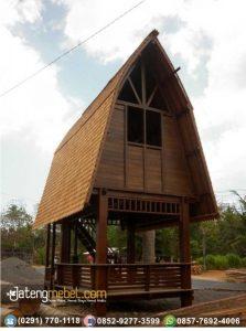 Rumah Kayu Gazebo Unik