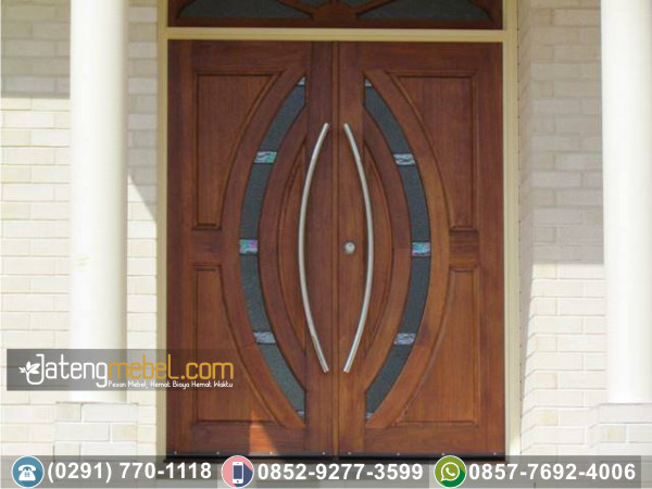 Pintu Rumah Minimalis Lengkung Tengah