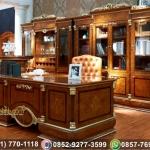 Meja Kantor Ukir Mewah Gold Bizerte