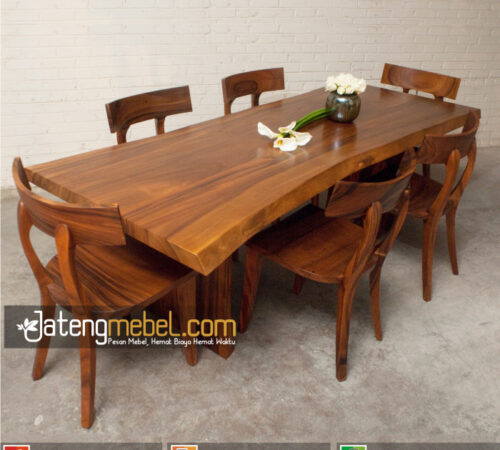 Kursi 6 Meja Trembesi Meh Solid Wood Elgin