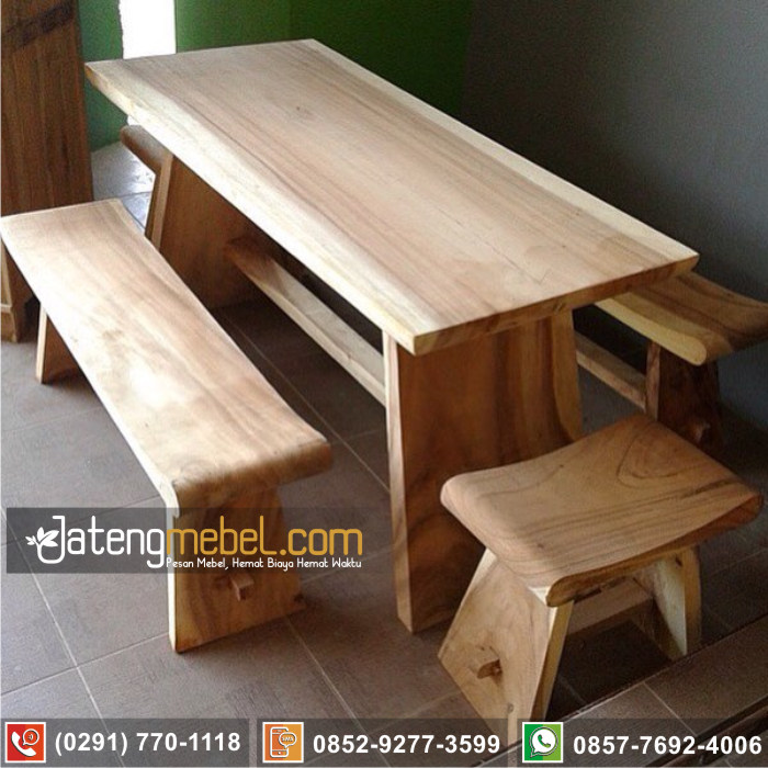 kursi meja trembesi kayu meh solid wood terlengkap Situbondo