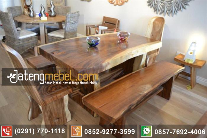 kursi meja trembesi kayu meh solid wood terpercaya Kulonprogo