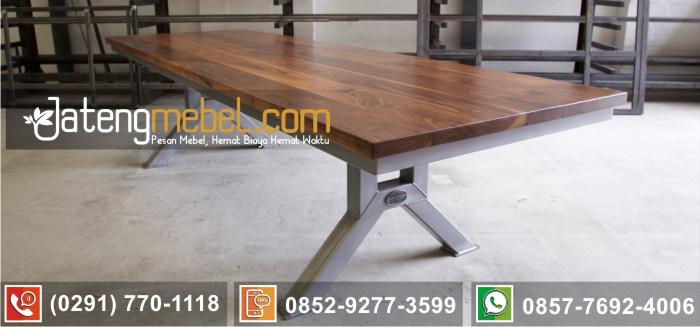 kursi meja trembesi kayu meh solid wood terbaru kaki stainless anti karat Probolinggo