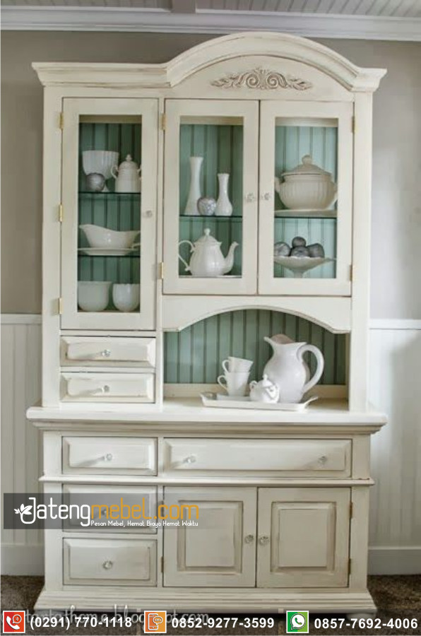 Bufet Lemari Dapur Gresik Terbaru Duco Putih Minimalis