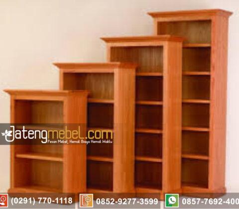lemari Buku Jati minimalis Jefferson