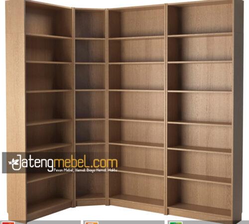 lemari Buku Jati minimalis 7 Tingkat Quakertown