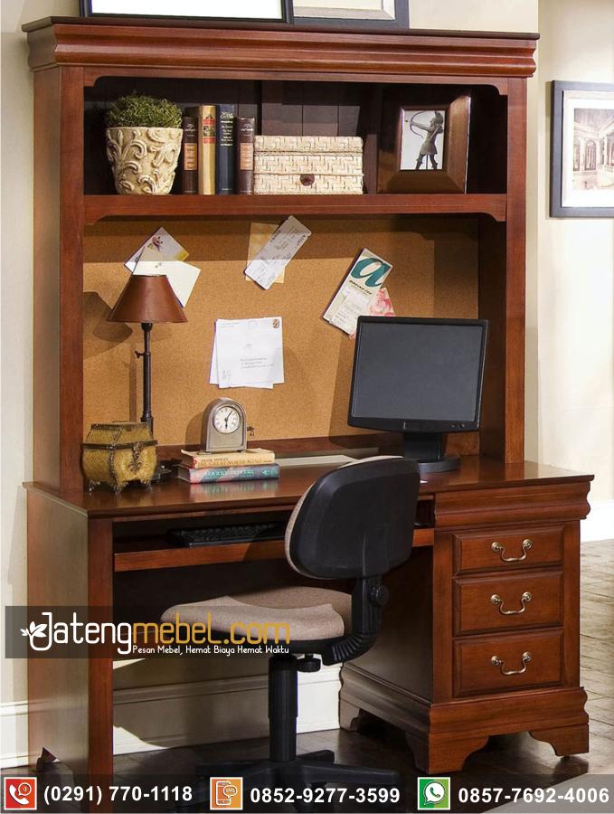 meja kantor belajar jati Trenggalek