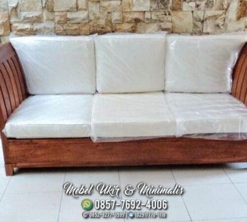 Bangku Minimalis Jati Lengkung Samping