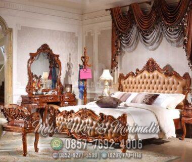 Set Tempat Tidur Ukir Jati Meja Rias Klasik