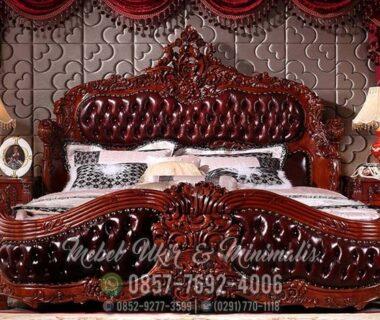 Set Tempat Tidur Ukir Jati Jok Mewah
