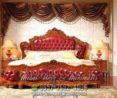 Set Tempat Tidur Ukir Jati Ukiran Mewah Raja