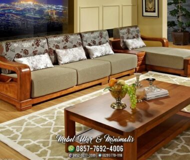 Kursi Tamu Sofa Minimalis Tanganan Lengkung Besar