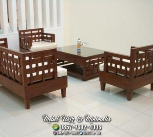 Kursi Tamu Sofa Minimalis Anyaman