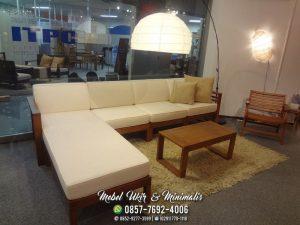 Kursi Tamu Sofa Minimalis Sudut L