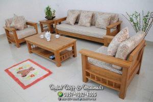 Kursi Tamu Sofa Minimalis Lurus Sisi Untuk Koran