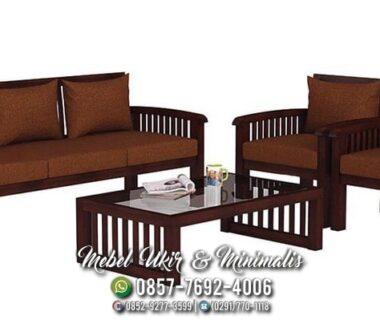 Kursi Tamu Sofa Minimalis Warna Coklat