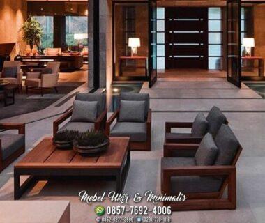 Kursi Tamu Sofa Minimalis Tanganan Segi Panjang