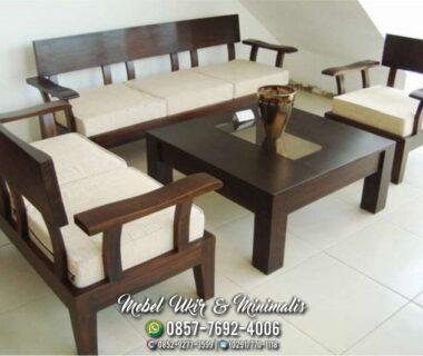Kursi Tamu Sofa Minimalis Meja Tengah Kaca