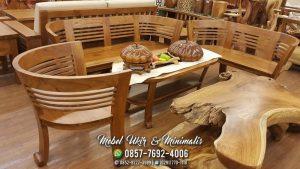 Kursi Tamu Sofa Minimalis Lengkung Oval