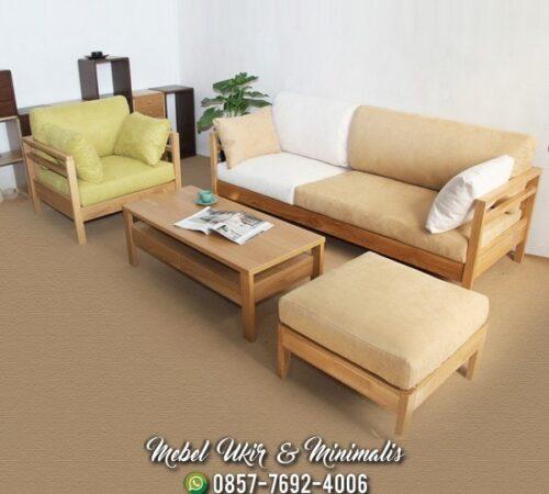 Kursi Tamu Sofa Minimalis Terlihat Bersih
